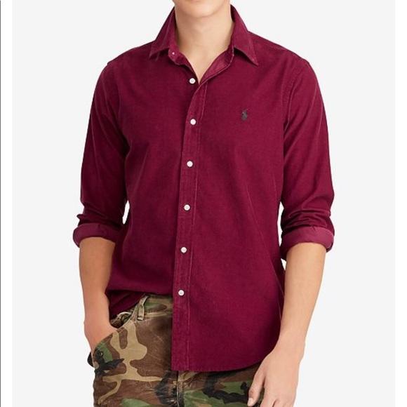 2a3a52fd0 Polo Ralph Lauren Men s Classic-Fit Corduroy Shirt.  M 5bc613ce12cd4a30e4349482